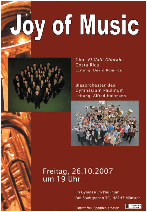 Plakat Joy of Music 2007